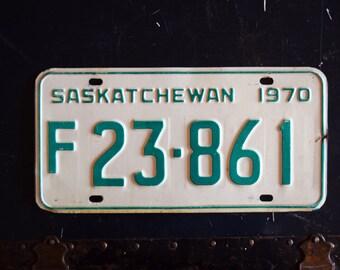 1970 Saskatchewan License Plate - F23-861