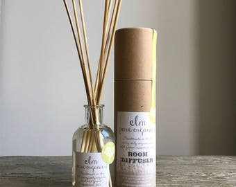 Dakota Meadow.  Organic Reed Diffuser. Only Organic Essential Oils, Geranium Rose, Lavender and Sage. Eco friendly. 100ml