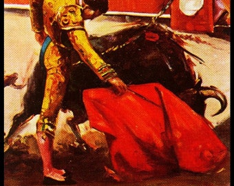 "Bullfighting - Plaza De Toros De Caletilla #1 Canvas Art Poster 12""x 24"""