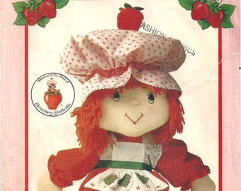 Vintage 80s Butterick Craft 6173 Sewing Pattern for Strawberry Shortcake Doll and Clothes Uncut