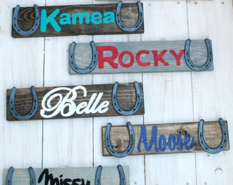 Custom Barn Sign - Design Your Own Personalized Horse Name Sign - Stable sign, rustic, horse, decor, horseshoe, cabin, True Destiny, TDD22