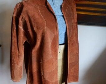 Medium / Large - Wonderful Patchwork Suede Jacket