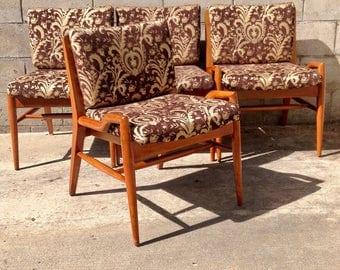 6 RESTORED Heywood Wakefield 1950s C157 Chairs vintage mid