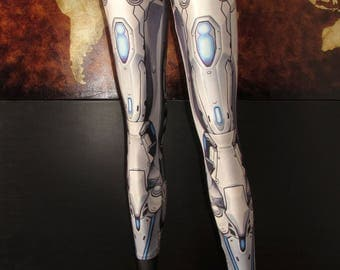 NEW! TAFI Machina Armor Leggings - Sci-Fi Robot Cyber Armour Costume Yoga Pants 2017 Black Milk Galaxy CosPlay Print