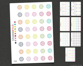 Netball Icons -  Planner Stickers  -  Volleyball Icons - Repositionable Matte Vinyl to suit all planners