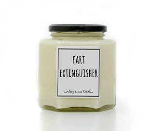 Fart Extinguisher Candle, Funny Gift For Boyfriend, Cheeky Gift, Funny Gift, Quirky Gift, Humorous Gift, Joke gift,  Scented Candle, Candles