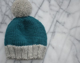 Toddler Pompom Hat - Ready to Ship