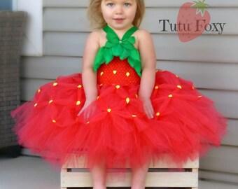 Strawberry Tutu Dress, Strawberry Tutu, Strawberry Costume, Strawberry Birthday, Strawberry Outfit, Halloween costume, food costume