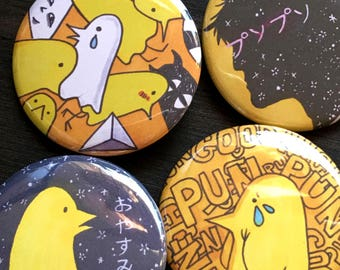 Pun Pun Manga Button Set