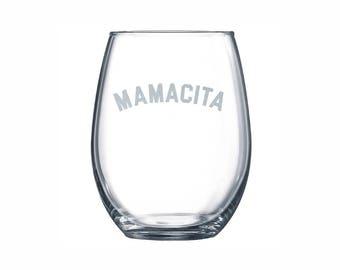 Mamacita Wine Glass | Mother's Day Wine Glass, Wine Glasses, Mamacita, Mother's Day Gift, Wine Glass Mom