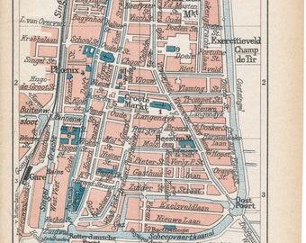 1911 Delft Netherlands (Holland) Antique Map