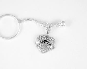 Abuela Grandmother Keychain Grandma Grams Spanish Granny Mother Mom Keychain Abeula key chain best jewelry gift