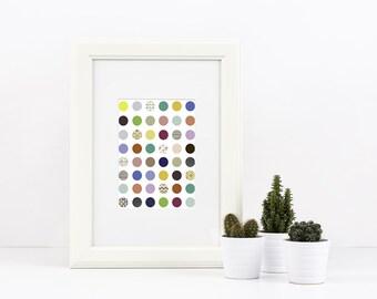 Colored Circles colorful digital print, 8x10 poster printable