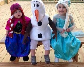 Elsa Hat, Elsa Wig, Elsa Frozen Hat, Disney Frozen Hat, Elsa Crochet Hat, Crochet Baby Hat, Elsa Costume, Ready to ship, Gift Christmas Gift