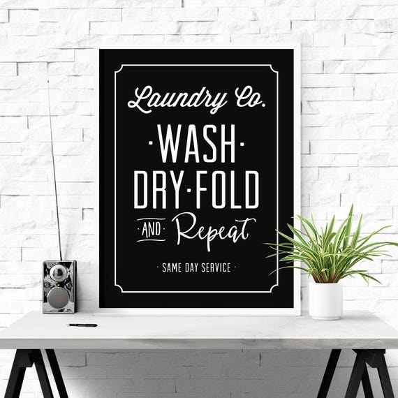 Laundry And Co Sign Inspiration Laundry Co Sign Wash Dry Fold Repeat Laundry Room Art Home Review