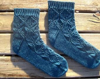 Josephine Lace Socks Knitting Pattern - Toe-Up - Instant Download PDF