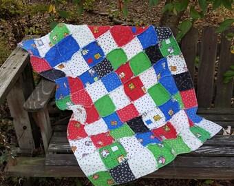 Barnyard Buddies Baby Flannel Rag Quilt