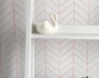 Removable Wallpaper, wallpaper, Herringbone wallpaper, Herringbone, Pink wallpaper, Peel and stick wallpaper, Self adhesive wallpaper