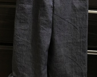 Denim Ruffle Pants