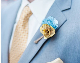 book page boutonniere
