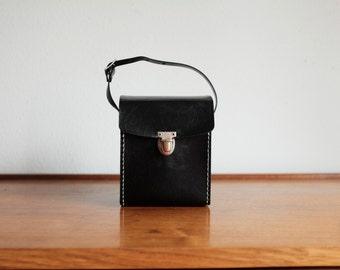 Vinyl Black Camera Bag