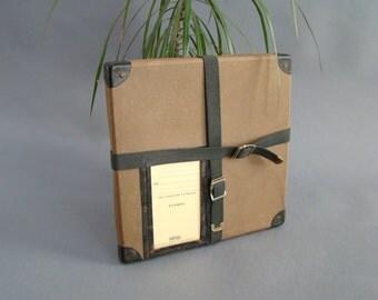 Vintage Film Reel Case; Film Shipper; Film Case; Shipping Case; Canvas Straps; Shipping Box; NFL Film; Vintage Hollywood; Movie Memorabilia;