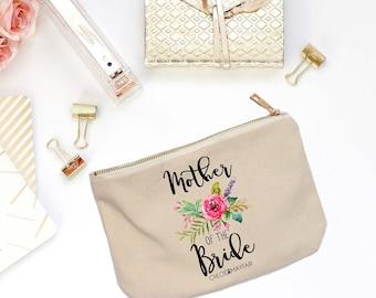 Mother of the Bride Cosmetic Bag-Bridal Party Makeup Bag, Bachelorette, Bridesmaid Gift, Makeup Bag for Bridesmaid-Fun & Inspirational Gifts