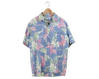 REYN SPOONER SHIRT // reyn spooner button down / floral / hawaiian / short sleeve / button up / vacation / hawaii / vintage / mens / large