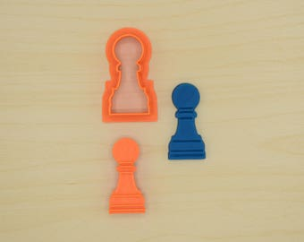 Pawn Chess Piece Cookie Cutter and Stamp Set