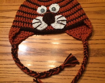 Crochet Lion Hat with ear flaps