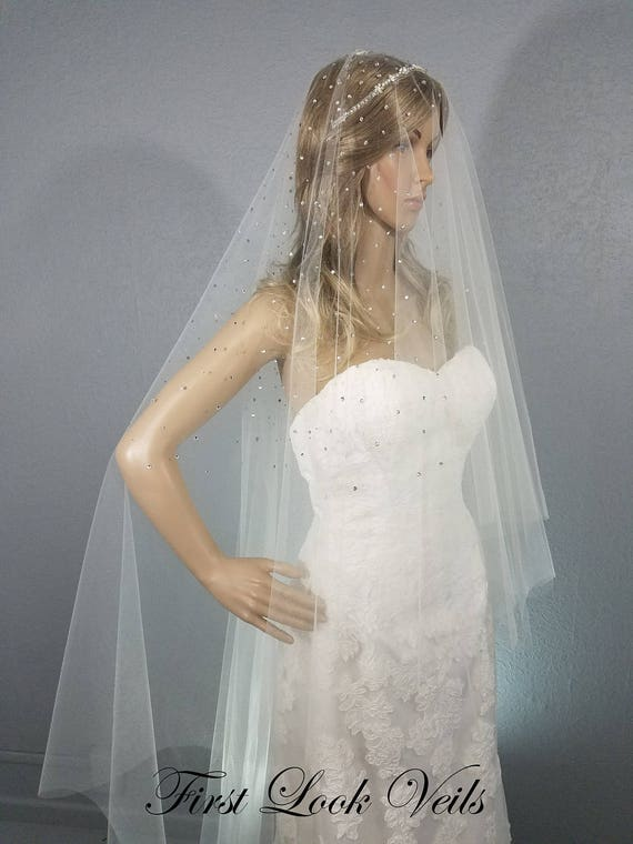 Ivory Bridal Drop Veil, Wedding Chapel Veil, One Layer Viel, Wedding Vail, Bridal Attire, Bridal Accessoy, Bridal Accessories, Women, Gift