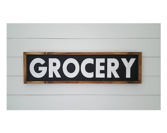 Grocery Wood Sign 11x48Kitchen SignOver The Door SignPantry