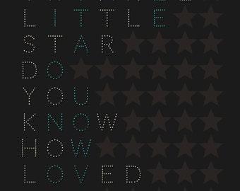 TWINKLE TWINKLE, Twinkle Little Star, gift, Little Star, baby boy, baby boys gift, nursery print, twinkle sign, 4x6, 5x7, a4, a3, 16x20, a2