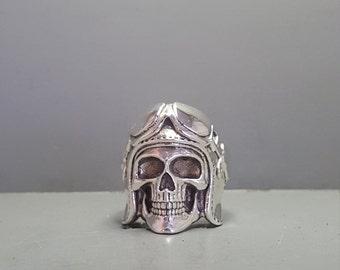 Sterling Silver Aviator Skull Ring