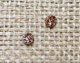 Brown Druzy Studs, Raw Druzy Studs, Druzy Stud Earrings, Druzy Earrings, Brown Druzy Earrings, Faux Druzy Earrings, Druzy Post Earrings