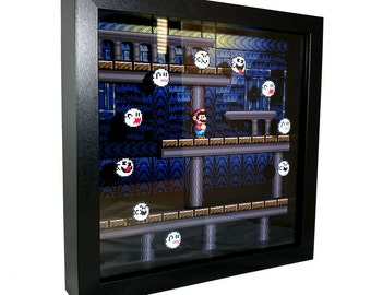 Super Mario World (SNES) Ghost House Shadow Box