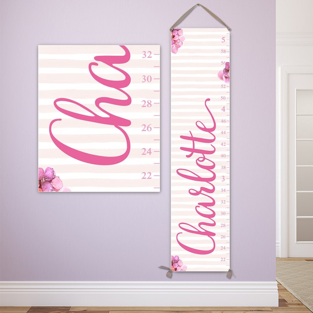 Floral growth chart personalized on canvas watercolor flowers floral growth chart personalized on canvas watercolor flowers girl growth chart nursery decor gc2015s nvjuhfo Choice Image