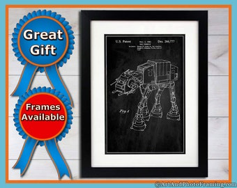 AT-AT Imperial Walker Poster Star Wars Gifts At-At Wall Art Imperial Walker Fathers Day Gift Star Wars Decor Imperial Walker Print At-At Art