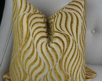 Gold Beige Chenille Decorative Pillow Cover, Gold Cushion Cover, Housewares Decor, Gold Throw Pillow Decor, Home Living 0077