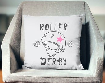 Roller Derby Gift | Roller Derby Decor | Roller Derby Pillow | Roller Derby Throw Pillow | Roller Derby Cushion | Roller Derby Pillow