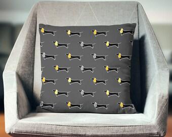 Daschund Decor | Daschund Throw Pillow | Daschund Cushion | Daschund Pillow | Daschund Pillow Cover | Daschund Home Decor | Daschund Gift