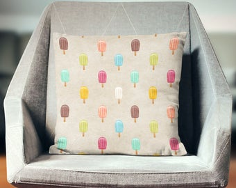 Ice Cream Decor | Ice Cream Throw Pillow | Ice Cream Cushion | Ice Cream Pillow | Ice Cream Pillow Cover | Ice Cream Home Decor | Ice Cream