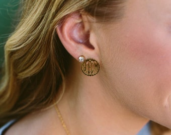 Interlocking Scallop Filigree Earring - Filigree Earring - Monogram Earring - Monogram Scallop Filigree Earring