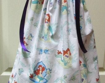 Ariel Pillowcase Dress, Little Mermaid, Size 18/24 months, Ready to Ship