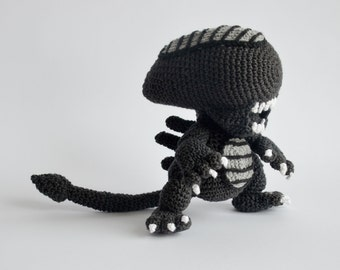 Crochet PATTERN No 1706 Alien by Krawka,