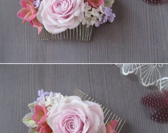 Wedding hair accessories for wedding hair clip Bridal hair accessory Bridal hair flower clip Bridal hair comb bridal flower hairpiece Rose