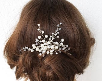 SUNNY WHITE | Bridal hair comb pearl hair comb wedding accessory bridal headpiece wedding headpiece decorative comb