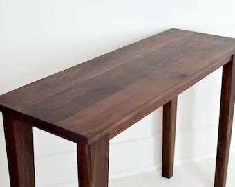Black Walnut Entry Table | Sofa Table | Modern Walnut Hall Table | Console Table | Walnut Table