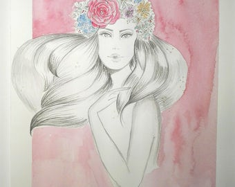 Delicato- Original Watercolor