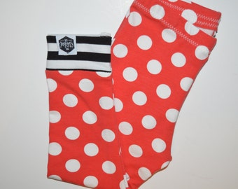 Red Polka Dots - Baby Leggings, Toddler Leggings, Minnie Mouse